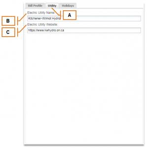 Screenshot of MyEyedro Client - Utility Tab