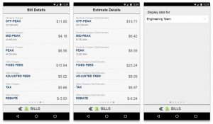 Screenshot of MyEyedro Client - Mobile Bills