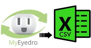 export to excel csv from myeyedro