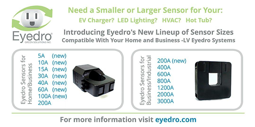 All New Eyedro Sensor Sizes