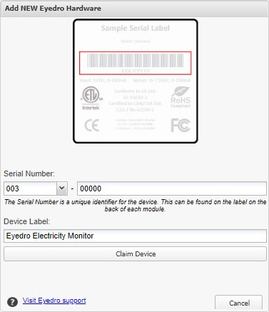 Add device by serial number