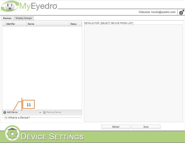 Add an Eyedro device
