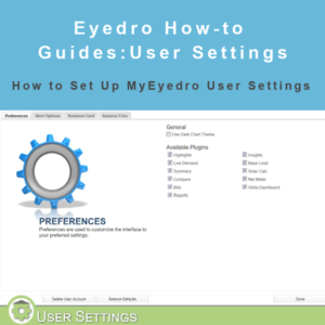 How to set up user settings in MyEyedro
